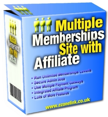 Product picture Multiple Memberships Site With Affiliate