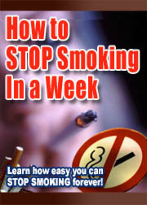 Product picture How To Stop Smoking In a Week